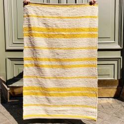 Tapis 100% coton jaune Casa Cubista