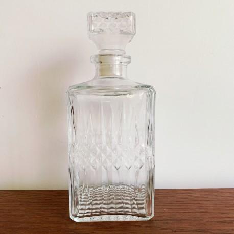 Carafe en verre carré Vintage