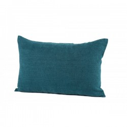 Coussin Propriano en lin bleu de prusse 40x60cm