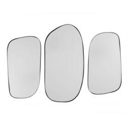Set de 3 miroirs Concord en métal noir