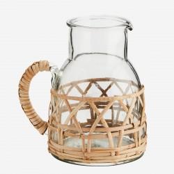 Pichet en verre et bambou Madam Stoltz