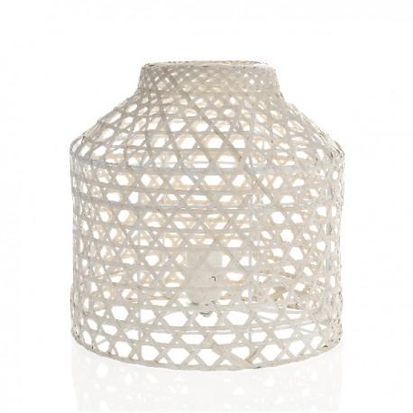 Lampe à poser en bambou blanchi