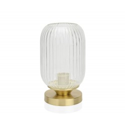 Lampe à poser en verre strié