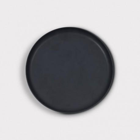 Assiette noire Brooklyn Ø22cm