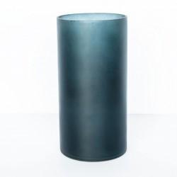 Vase en verre recyclé bleu mat