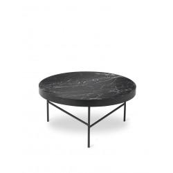 Grande table basse en marbre noir