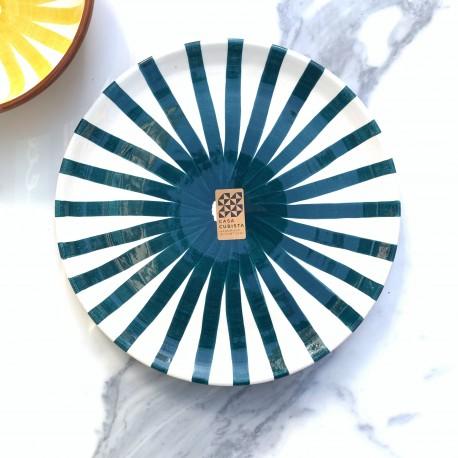 Assiette Ø23cm ray bleu Casa Cubista