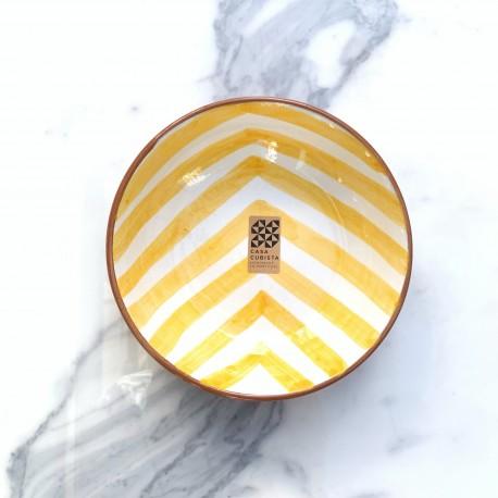 Bol en céramique Chevron jaune