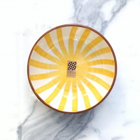 Bol en céramique Ray jaune Casa Cubista