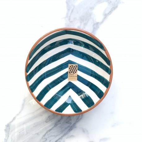 Bol en céramique Chevron bleu canard