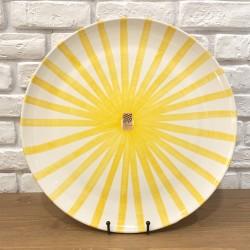 Grand plat en céramique Ray jaune
