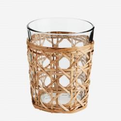 Verre avec cannage en bambou