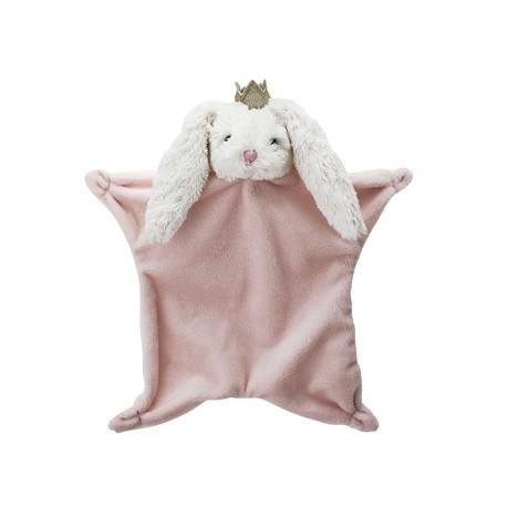 Doudou lapin ultra doux rose