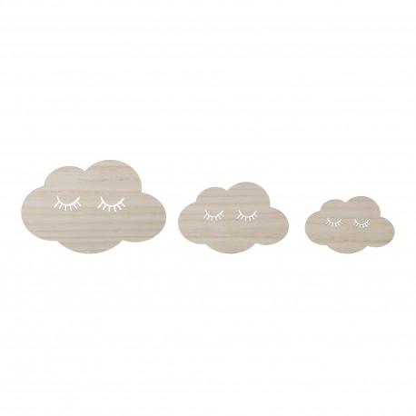Set de 3 nuages à accrocher au mur