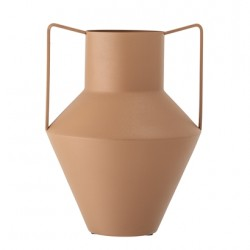 Grand vase en métal terracotta
