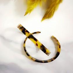 Bracelet en acétate tortoise