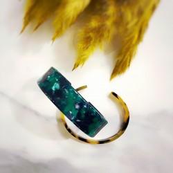 Petite manchette en acétate emerald