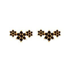 Boucles d'oreilles Black Roselin gold
