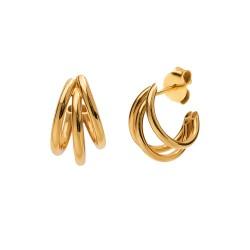 Boucles d'oreilles Charcoal gold