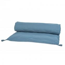 Edredon Dili en voile de coton bleu de prusse