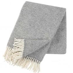 Plaid 100% laine Samba gris