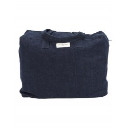 Sac week-end Elzevir en denim brut