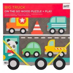 Puzzle en bois Camions et voitures