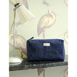 Trousse de toilette Alma Denim brut