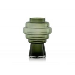 Vase en verre Totem vert