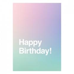 Carte Happy birthday dégradé