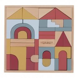 Blocs de construction en bois - set de 47 blocs