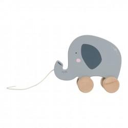 Jouet à tirer Éléphant en bois