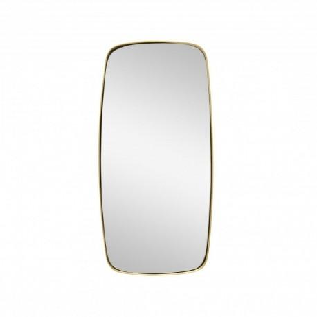 Miroir carré avec cadre en laiton doré