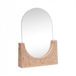 Miroir de table en terrazzo