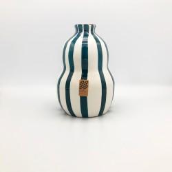 Grand vase Gourd bleu canard Casa Cubista