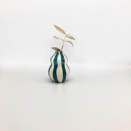 Mini vase Gourd bleu canard Casa Cubista
