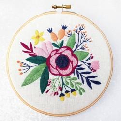 Kit de broderie Bouquet de fleurs