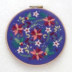 Kit de broderie Fleurs d'hiver