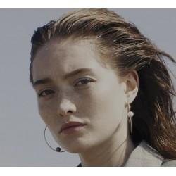 Boucles d'oreilles Venus Blanche