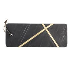 Planche en marbre noir Elsi