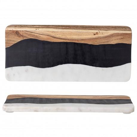 Planche en marbre, bois & résine