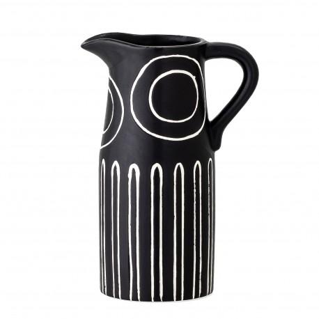 Vase Troy en grès noir et blanc