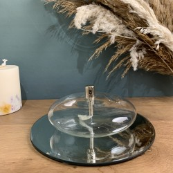 Lampe à huile ellipse en verre