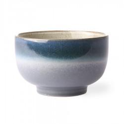 Bol en céramique bleu et gris