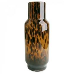 Vase ovale en verre Léopard
