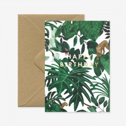 Carte Happy Birthday jungle
