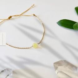 Bracelet Peridot Olivine plaqué or 18k