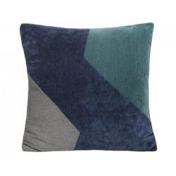 Coussin Mixa vert, bleu et gris 45x45cm