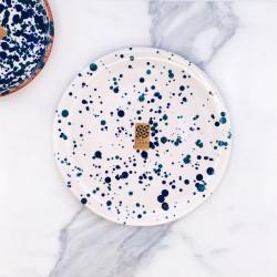 Assiette Ø23cm Chroma min bleu & bleu canard Casa Cubista