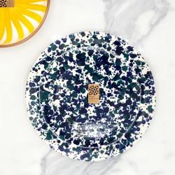 Assiette Ø23cm Chroma max bleu & bleu canard Casa Cubista